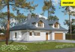 Проект одноэтажного дома с мансардой  - Муратор М102