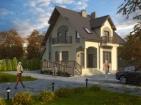 Проект привлекательного дома с цоколем и мансардой